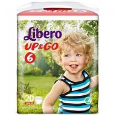 LIBERO Up & Go No.6 XL 13-20  20 τεμ.  (Πρ. Ελληνικής Αντιπροσωπείας)