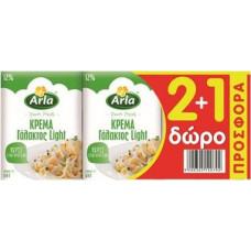 ARLA Κρέμα Γάλακτος Light 12% 200ml 2+1 ΔΩΡΟ