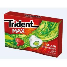 TRIDENT Τσίχλες Max Splash Φράουλα Λεμόνι πλ. (1ευρώ) 22gr  (BARCODE ZIN: 7622210990372)