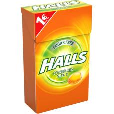 HALLS Καραμέλες Vita-C Citrus 1ευρώ πλ. 28gr (BARCODE ZIN: 7622210991133)