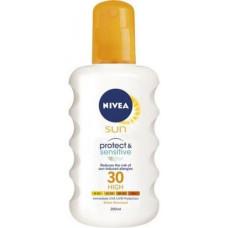 NIVEA Sun Αντηλιακό Adults Sensitive Spray SPF30 200ml