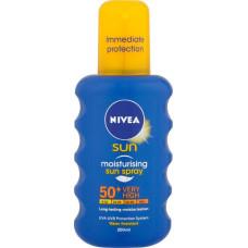 NIVEA Sun Αντηλιακό Protect & Moisture Spray SPF50+ 200ml