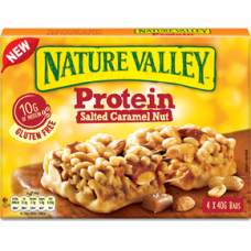 NATURE VALLEY Μπάρα Πρωτεΐνης Καραμέλα (4τμχ) 160gr