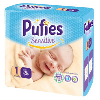 PUFIES Small pack Sensitive  Size 1/Newborn