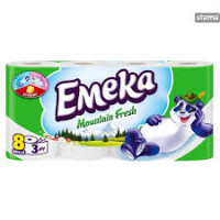 EMEKA Toilet Paper 3ply Mountain Fresh 8 ρολά