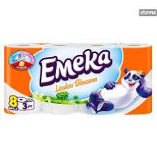 EMEKA Toilet Paper 3ply Linden Blossom 8 ρολά